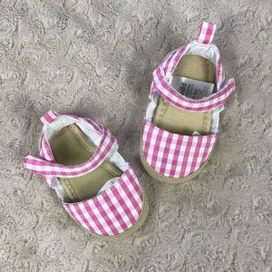 Child of Mine by Carter's Pink Gingham Sandals